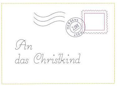 Stickdatei Brief An Das Christkind Stickdateien Shopde