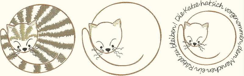 Embroidery #37 Stickdatei Katze Nr.03